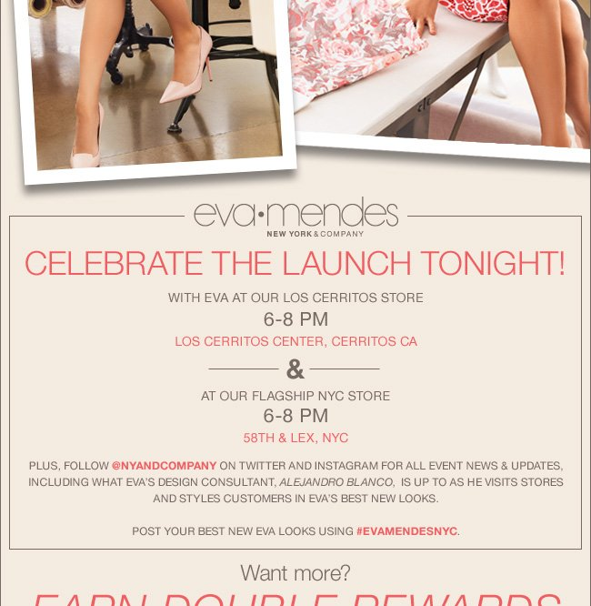 Celebrate the Launch Tonight with Eva at Our Los Cerritos Store!