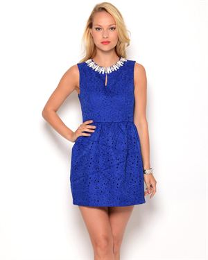Gracia Embellished Cut-Out Dress
