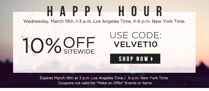 Happy Hour 10% Off