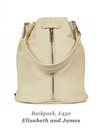 Backpack, £450 Elizabeth and James