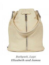 Backpack, £450 Elizabeth and James