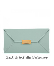 Clutch, £480 Stella McCartney