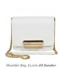 Shoulder Bag, £1,070 Jil Sander