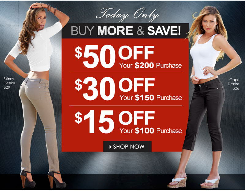 WOW! Get $50 OFF a $200 order OR Get $30 OFF a $150 order OR Get $15 OFF a $100 order! Buy More, Save More! Shop VENUS!
