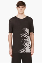 ALEXANDER WANG Grey Graphic Print Modal T-Shirt for men