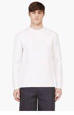 ALEXANDER WANG White Cotton Blend Neoprene Sweatshirt for men