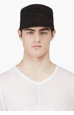 JULIUS Black Nubuck Slouchy Patrol Hat for men