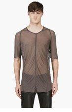 JULIUS Grey Raw Edge T-Shirt for men