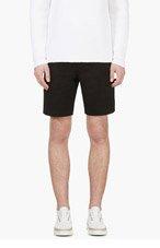 T BY ALEXANDER WANG Black Lambskin Pocket Denim Shorts for men