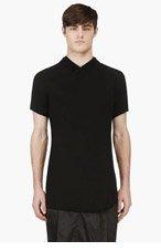 JULIUS Black Bias Cut Doubled Jersey T-Shirt for men