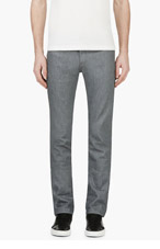NAKED AND FAMOUS DENIM Grey Skinny Jeans for men