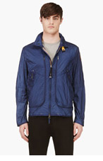 PARAJUMPERS Navy Quilted California Phoenix Mesh Vent Jacket for men