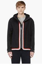 MONCLER GAMME BLEU Navy Woven Hooded Jacket for men