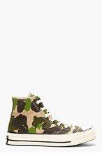 CONVERSE PREMIUM CHUCK TAYLOR Green CAMO CHUCK TAYLOR ALL STAR '70s High Top Sneakers for men