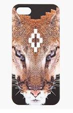 MARCELO BURLON COUNTY OF MILAN Black & Brown Pixelated Puma iPhone 5 Case for men