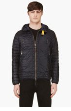 PARAJUMPERS Navy Down Quilted Hooded Roby Jacket for men