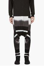 JULIUS Grey & Black GRAPHIC Fade Sarouel Lounge Pants for men