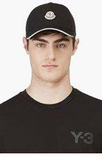 MONCLER Black Logo Baseball Cap for men