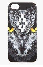 MARCELO BURLON COUNTY OF MILAN Black & Grey Pixelated Owl iPhone 5 Case for men