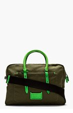 MARC BY MARC JACOBS Green Canvas Pin It To Win It Briefcase for men