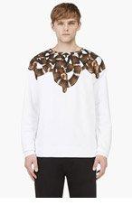 MARCELO BURLON COUNTY OF MILAN White Long Sleeve Snake Print Sweatshirt for men