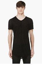 JULIUS Black Micro-Knit T-Shirt for men