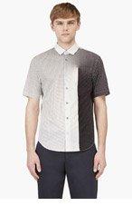 JONATHAN SAUNDERS White & Black Gradient Dot Print for men