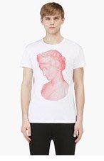 JONATHAN SAUNDERS White Grecian Statue Graphic T-Shirt for men