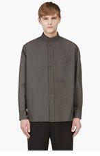 UMIT BENAN Olive Drab KOREAN Pocket Shirt for men