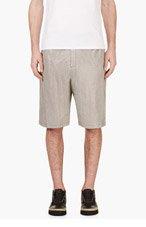 ALEXANDER WANG Black & White Goat Skin Houndstooth Shorts for men