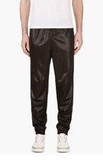 T BY ALEXANDER WANG Black Sheen Lounge Pants for men