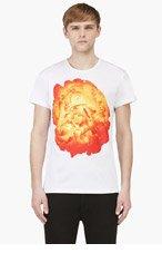 JONATHAN SAUNDERS White Peony Graphic T-Shirt for men
