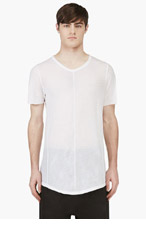 JULIUS White Micro-Knit T-Shirt for men