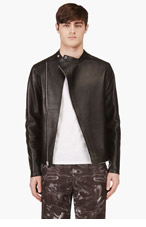ALEXANDER WANG Black Lambskin Moto Jacket for men