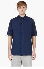 MARNI Indigo Short Sleeve Button Down Shirt for men