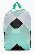 MARC BY MARC JACOBS Aqua & Black Canvas Diamond Mountain Backpack for men