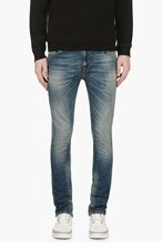 NUDIE JEANS Blue Organic Greystone HIGH KAI Jeans for men