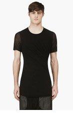 JULIUS Black Doubled Jersey T-Shirt for men