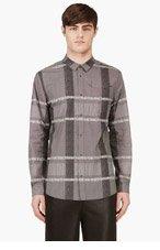 ALEXANDER WANG Grey Modified Plaid Shirt for men