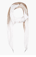 SILENT BY DAMIR DOMA Pink & Tan Ombre Scarf for men