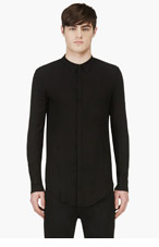JULIUS Black Power Shoulders Shirt for men