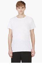 UMIT BENAN White Classic Fit Crewneck T-Shirt for men