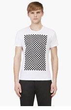 JONATHAN SAUNDERS White & Black Bonded Polka Dot  Shirt for men