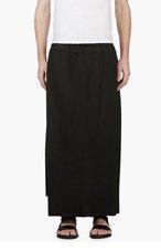 JULIUS Black Hybrid Skirt for men