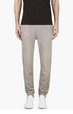 DIESEL Grey Slub faded PASCALES lounge pants for men