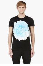 JONATHAN SAUNDERS Black & Blue peony print T-SHIRT for men