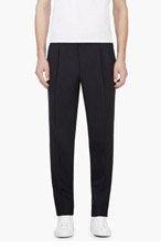 UMIT BENAN Navy Wool Pinstripe Trousers for men