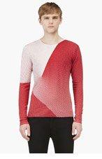 JONATHAN SAUNDERS Red & Ecru Print Merino Wool Sweater for men