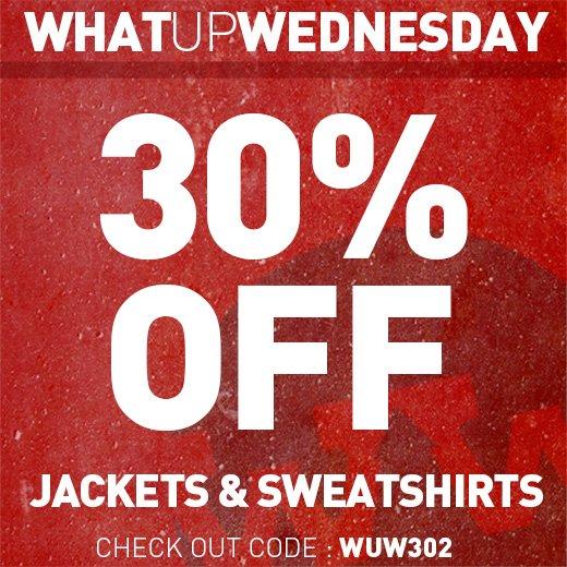 30% Off Jackets & Sweatshirts
