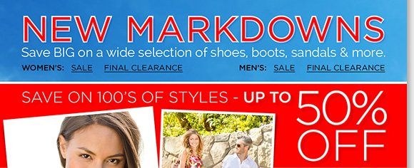 Shop NEW markdowns and save on 100's of great styles from Dansko, Raffini, ECCO, Tara M. & more! Save big on your favorite sandals, boots, shoes and more! Find the best selection when you shop online and in stores at The Walking Company.